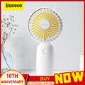 Портативный вентилятор Baseus  3-скоростной перезаряжаемый вентилятор с мини-USB с емкостью 1500 мАч  аккумулятор  тихий Настольный Персональный в...