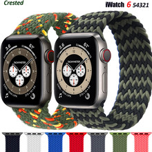Braided Solo Loop strap For Apple watch band 44mm 40mm 38mm 42mm FABRIC Elastic belt