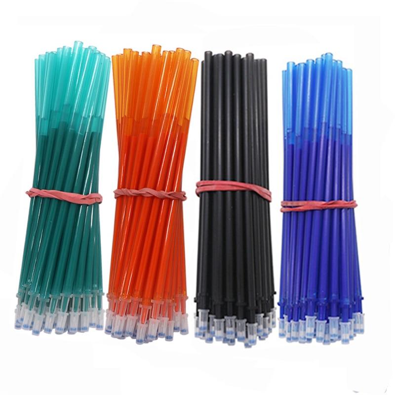 10/20Pcs/lot 0.5mm Erasable Pen Refill Rod Set Washable Handle Blue/Black/Red Ink Magic Gel Pen For School Office Supplies Tools