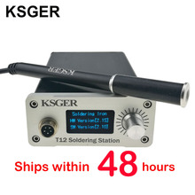 KSGER V2.1S STM32 OLED T12 Temperature Controller Metal Case Cover Soldering Iron Station 9501 Soldering Handle With Battery