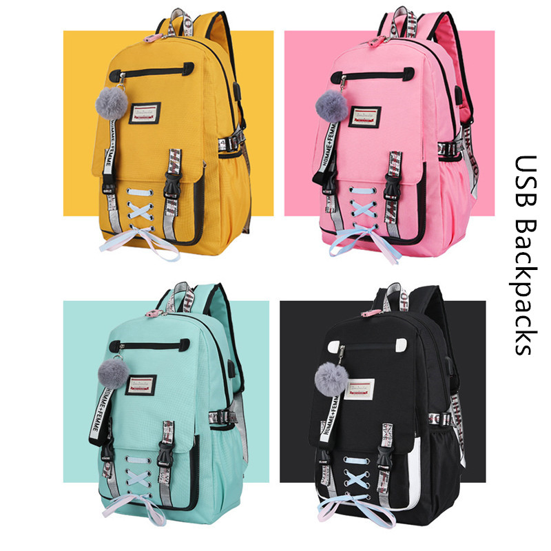 Large School Backpacks For Teenage Girls Usb With Lock Anti Theft Bags  Big High School Bag Youth Leisure College Women Book Bag