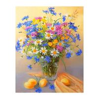 Flowers Digital Oil Painting By Numbers Canvas Wall Picture DIY Hand Painted GXMA