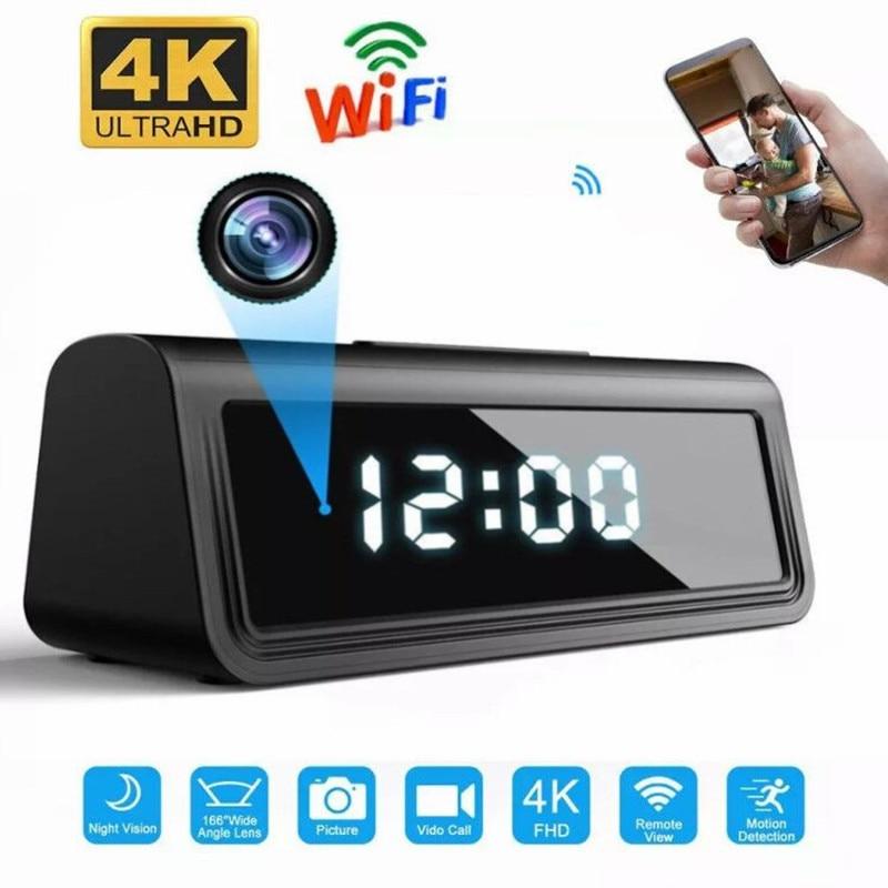 HDlivecam 4K Wifi Secret Clock Micro Camera Espia AP Recorder Security Cam IR Night Vision Motion Detect Camcorder Micro Camera