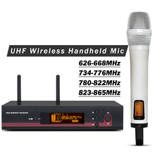 White Color !! High Quality Professional 135 G3 UHF Wireless Microphone System W