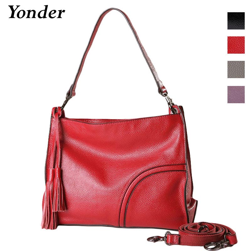 Yonder designer luxury handbag women bags cow leather shoulder bag ladies genuine leather tote crossbody bag