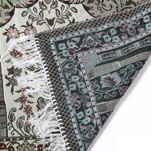 Image 5 - Alfombra de oración islámica para el hogar, sala de estar con borla gruesa, alfombrillas de adoración suave, decoración, cobija de oración musulmana, alfombra étnica