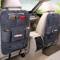 1 unidad de bolsa de almacenamiento de coche caja Universal bolsa de asiento trasero bolsa organizadora de asiento trasero bolsillos de soporte de coche-Accesorios de protección de coche