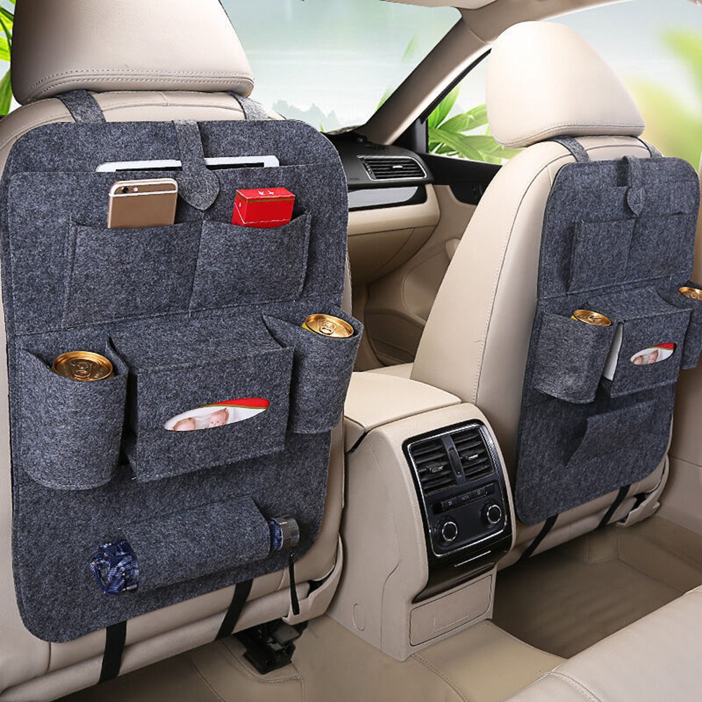 1PC Car Storage Bag Universal Box Back Seat Bag Organizer Pouch Backseat Holder Pockets Car-styling Protector Auto Accessories