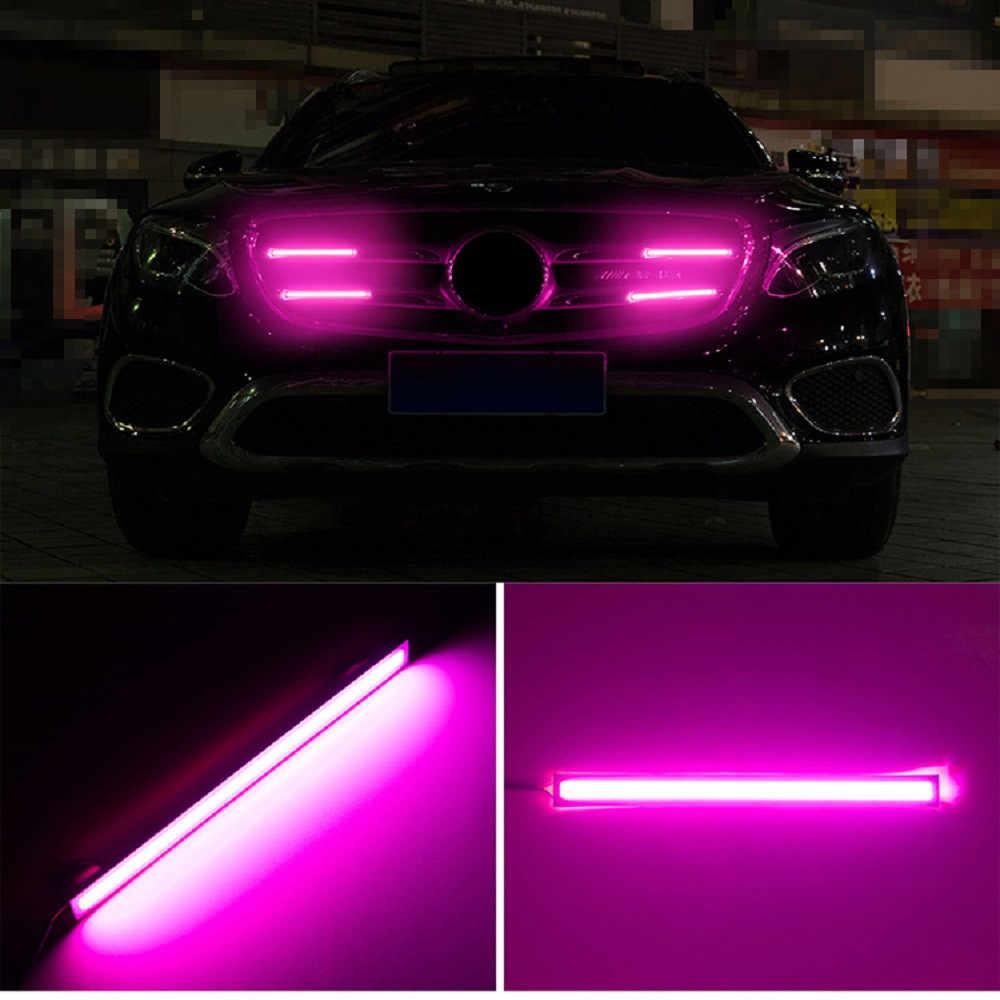 Led drl para carro, luz diurna, neblina, 17cm, para condução, à prova d' água, decoração para carro lâmpada,