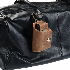 Image 4 - JINXINGCHENG funda portátil de cuero con gancho abatible para IQOS 3,0, 5 colores, funda cartuchera, Funda de cuero, doble bolsa, accesorios