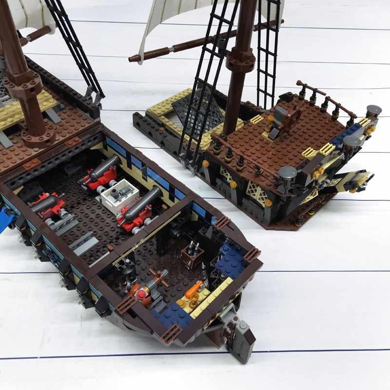 1710 + pcs 22001 83038 Pirati Film IMPERIALE di PUNTA Blocchi di Costruzione Lepinblocks Re Compatibile Legoed 10210 La Nave Giocattoli
