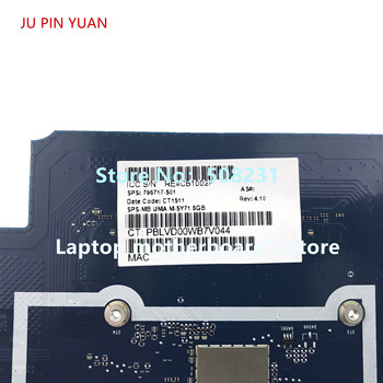 JU PIN YUAN for HP ENVY X2 DETACHABLE 13T-J NoteBook PC 796717-501 Laptop Motherboardwith M-5Y71 8GB 8GB 100% fully Tested