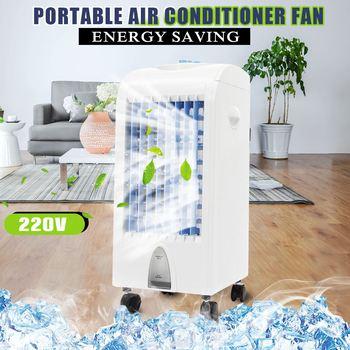 Warmtoo, ventilador de aire acondicionado de 75W, 3 puestos, enfriador, fuerte refrigeración, ventilador de aire acondicionado + 2 cristales de hielo para el hogar, oficina, 220V