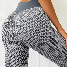 Leggings Clothing Tights Yoga-Pants Grid Gym Fitness Seamless Push-Up High-Waist Girl