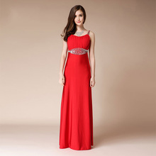 Banquet Evening Dress Long 2019 Red Host Sexy Mermaid Dresses Beaded Prom Party Turkish Formal Women Elegant
