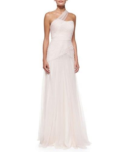 Formal Dress Vestidos De Festa Longo One Shoulder White Tulle Long Party Evening Elegant Dress Robe De Soiree 2019 New Fashion
