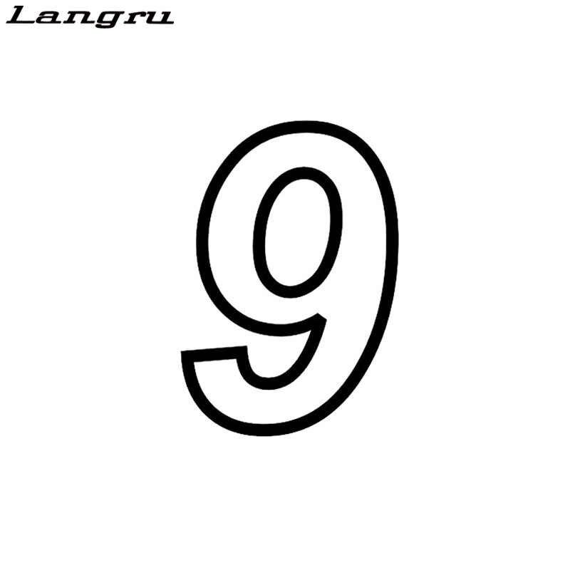 Langru 10.7*15.6CM Yaratıcı Yarış Numarası 9 Vinil Araba Sticker Çıkartması Grafik Araba Aksesuarları Jdm