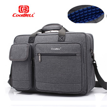 حقيبة كتف جديدة من Coolbell بسعة كبيرة 15 15.6 للكمبيوتر المحمول والعمل حقيبة ساعي البريد للكمبيوتر المحمول macbook PRO 15.4 ، حقيبة كمبيوتر محمول 17 بوصة
