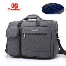 Coolbell nueva gran capacidad 15 15,6 laptop hombre bolso de hombro de negocios bolsa de mensajero para macbook PRO 15,4, maletín para portátil de 17 pulgadas