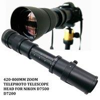 420 800mm F/8.3 16 Telephoto Zoom Lens for Nikon DSLR Camera D5100 D5300 D5200 D7500 D3300 D3400 D3200 D90 D7200 D5600 D3X