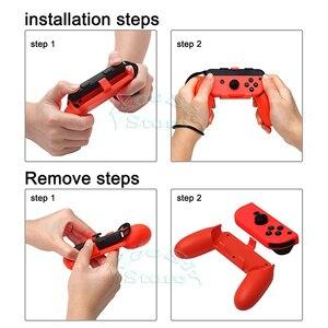 Image 4 - Nintendo switch ns kit de acessórios de console, bolsa de armazenamento para console, alça de controle, caixa de silicone para jogos de nintendo switch