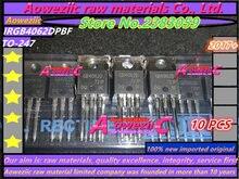Aoweziic 2017 + 10 PCS   50 PCS 100% חדש מיובא מקורי IRGB4062DPBF GB4062D כדי 220 IGBT דיודה 600V 48A