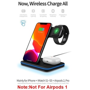 Image 3 - Universal 3in1 15W Qi Wireless Charger For Iphone XS 8 11 Pro Max Huawei Samsung Fast Charging Station For Apple Watch 5 4 3 2 1