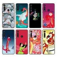 Disney Mulan Animatie Voor Motorola Een Marco Hyper Fusion Plus G9 G8 G 5G E7 E6 Rand Plus Spelen power Lite Telefoon Case