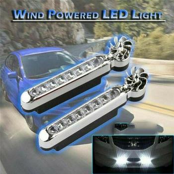 8 LED DRL energia wiatru samochód światła do jazdy dziennej nie ma potrzeby zewnętrzne zasilanie światło dzienne światło główne światło samochodu tanie i dobre opinie NONE CN (pochodzenie) Klimatyczna lampa