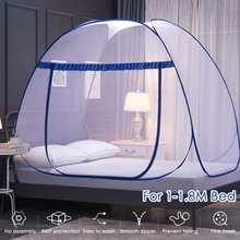 Przenośny automatyczny Pop ~ Up moskitiera instalacja-bezpłatny składany uczeń piętrowy oddychający namiot siatkowy moskitiera Home Decor tanie tanio CN (pochodzenie) Bi-rozstanie Uniwersalny circular Domu OUTDOOR Camping Podróży SKUE81141 Dorosłych Mongolski jurta moskitiera