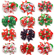 100pcs Dog Christmas Accessories Dog Bow Tie Pet Dog Cat Xmas Bowties Neckties Small Dog Holiday Party Grooming Accessores
