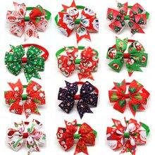 Accesorios de Navidad para perro, pajarita para perro, mascota, gato, lazos de Navidad, corbatas para perro pequeño, accesorios de aseo para fiesta de vacaciones, 100 Uds.