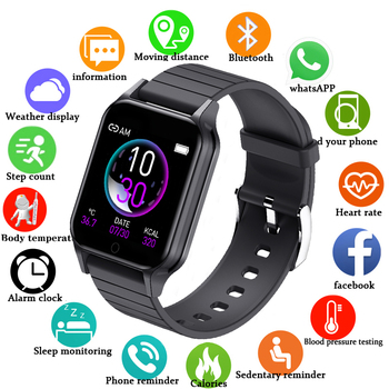 q9t sports smartwatch body temperature measure custom watch face smart watch men women heart rate bracelet for android ios pk p9 2020 New Smart Watch for Women Men Heart Rate Body Temperature Monitor Custom Wallpaper Sport Watches Android IOS Smartwatch T96