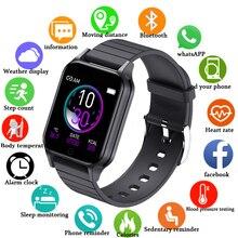 2020 חדש חכם שעון לנשים גברים קצב לב צג טמפרטורת גוף מותאם אישית טפט ספורט שעונים אנדרואיד IOS Smartwatch T96 תמיכה בעברית