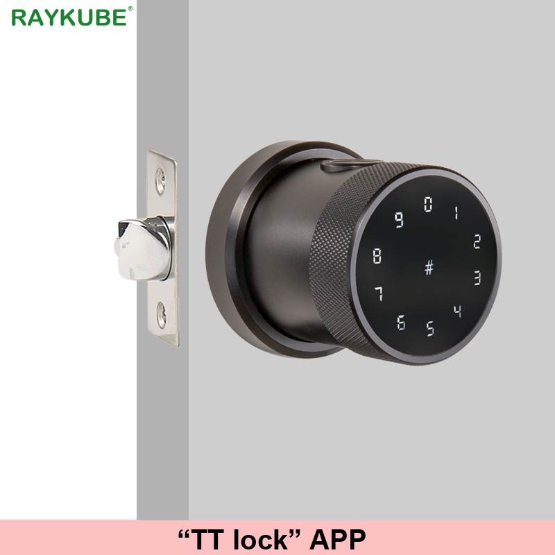 TT lock APP Fingerprint Door Lock Digital Keyboard Smart Card Combination knob Lock For Home Office Innrech Market.com