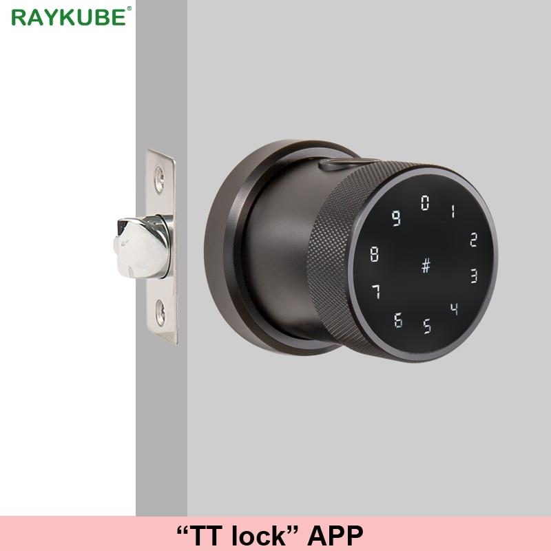 TT lock APP Fingerprint Door Lock Digital Keyboard Smart Card Combination knob Lock For Home Office Innrech Market.com