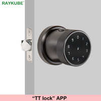 TT lock APP Fingerprint Door Lock Digital Keyboard Smart Card Combination knob Lock For Home / Office / Hotel DIY Door Lock