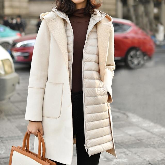 Fitaylor Winter Ultra Light White Duck Down Coat Women 4XL Plus Size Down Jacket Medium Long Vest Female Casual Zipper Outerwear 6