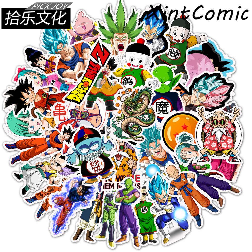 50 Stks/pak Dragon Ball Cartoon Klassieke Stijl Graffiti Stickers Moto Auto & Koffer Cool Laptop Stickers Skateboard Diy Sticker