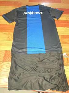 Image 2 - Children Sets Club Brugge KV uniforms boys and girls sports kids shirts+shorts training suits blank custom set