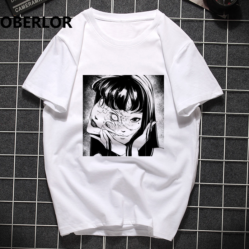Men Clothes 2019 Junji Ito Pokemon Printing Man's T-shirt Harajuku  Short Sleeve Streetwear Aesthetic Clothes Camisetas Hombre