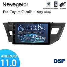 6 GRAMM + 128GROM DSP 2 din Android 11 Auto Radio Multimedia Video Player für Toyota Corollas Ralink 2013 2014 2015 2016 carplay