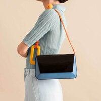 Brand Shoulder Bags Women Acrylic Handle Handbag High Quality Panelled Flap Bag Small Square Messenger Crossbody Bag Bolsa Chic