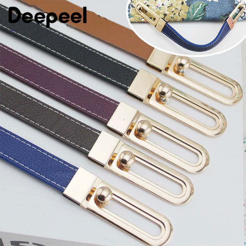 Deepeel 1pc/2pcs 31cm Manual Bag Handle Buckles PU Leather Handbag Strap Slider Clip Replacetment Hang Hook DIY Hardware Parts