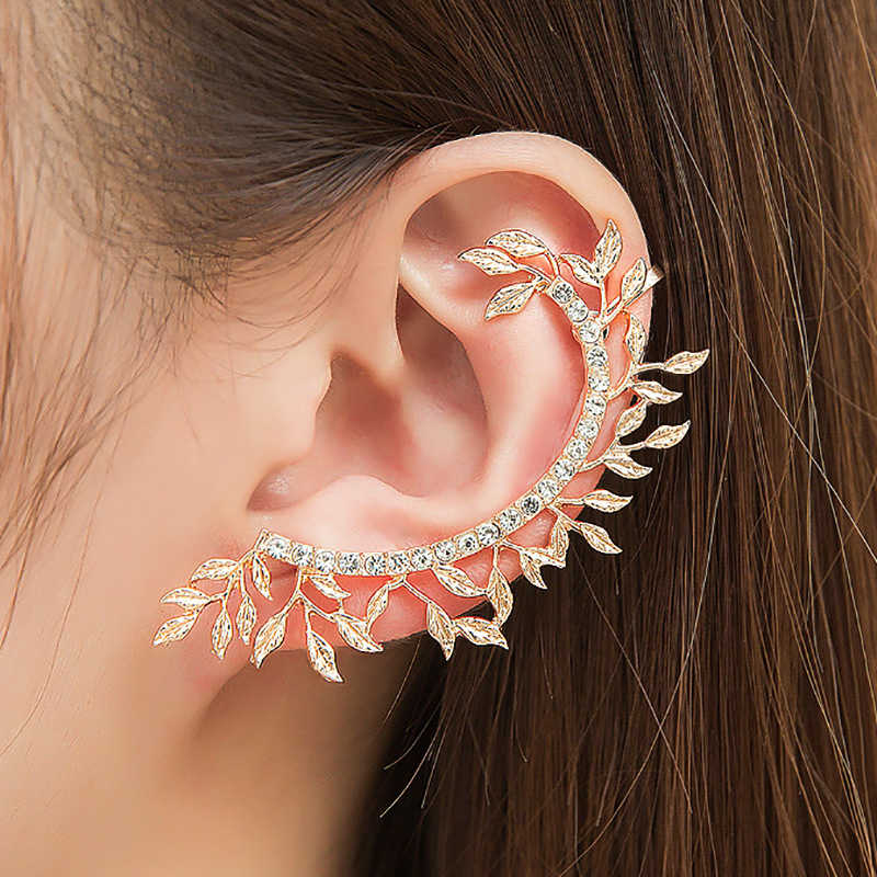 Modyle 2019 New Fashion Elegant Vintage Punk Gothic Crystal Rhinestone Ear Cuff Wrap Stud Clip Earrings