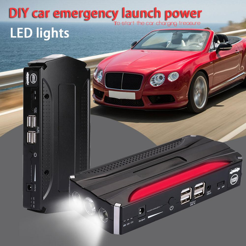 DIY Jump Starter Kit Car Emergency Automobile with LED Light 4USB Outdoor Battery Charger Power Bank Supply Car Jump Starter Kit