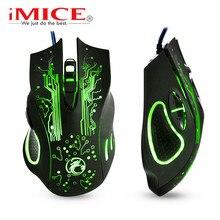 Kablolu oyun fare RGB oyun fare Gamer kablo USB 6 düğmeler ergonomik fare renkli LED optik fare PC bilgisayar oyun X9