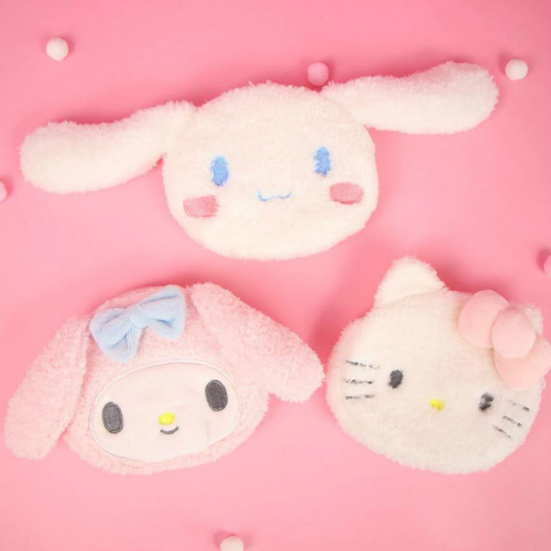1pc New Lovely Japanese Cartoon My Melody Cinnamoroll Dog Plush Portable Coin Purse Coin Bag Plush Toys Gift