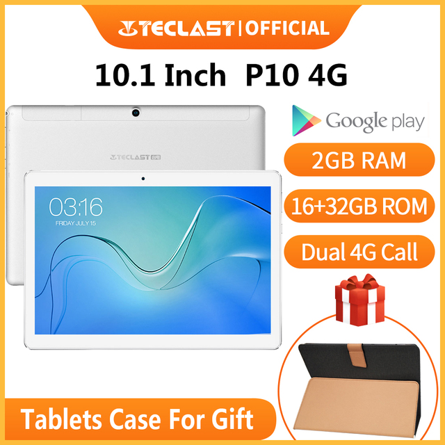 teclast p10 4g 10.1 inch tablet android 8.1 mtk6737 quad core dual 4g call gps 2gb ram 16gb rom dual camera phone call tablets