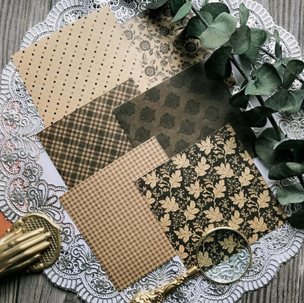 6Pcs/Pack Vintage Texture Vellum Paper Sticker DIY Craft Scrapbooking Album Junk Journal Planner Decorative Stickers